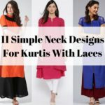 11 Simple Neck Designs for Kurtis With Laces