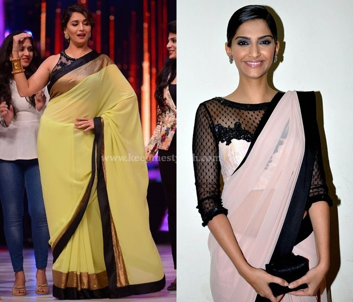 Plain Sarees With Black Border