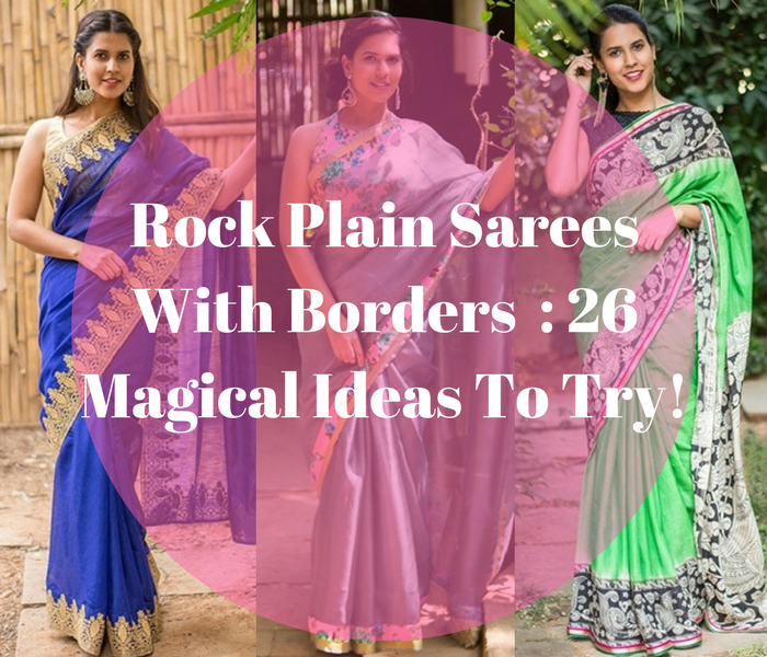 Plain Sarees With Borders