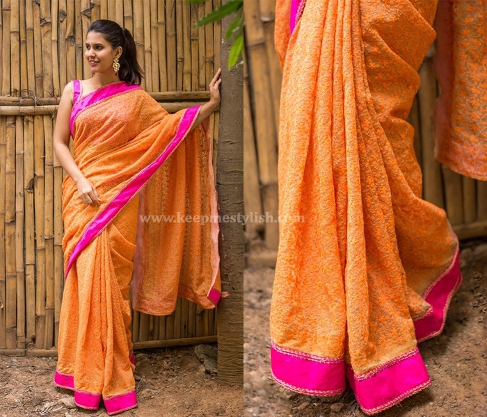 Plain Sarees With Contrast Border
