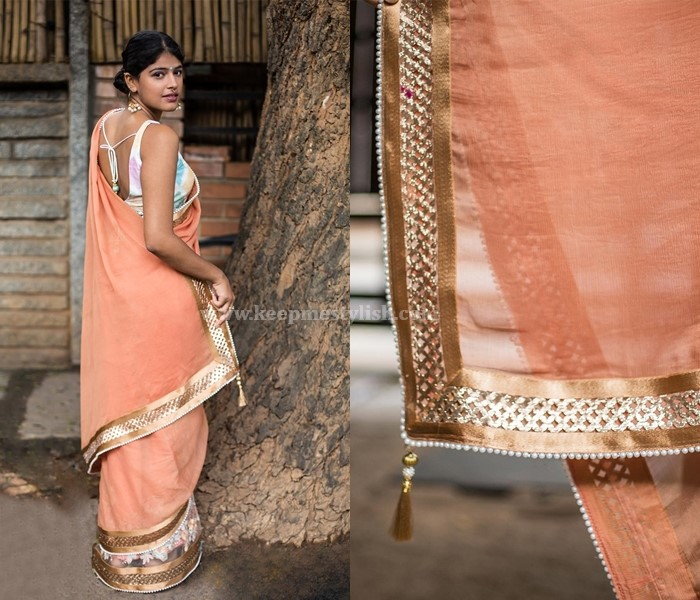 Plain Sarees With Designer Border