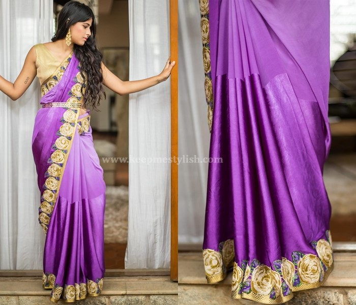Plain Sarees With Embroidery Border