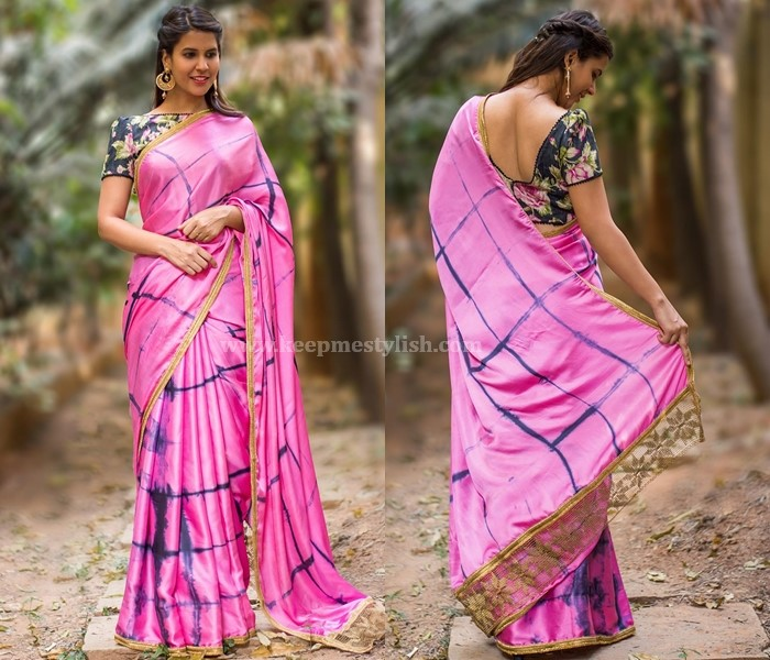 Plain Sarees With Gold Border