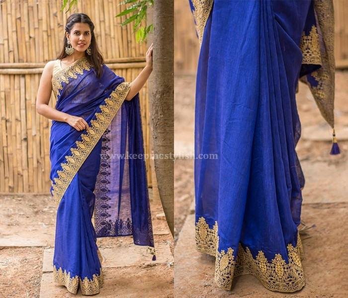 Plain Sarees With Lace Border
