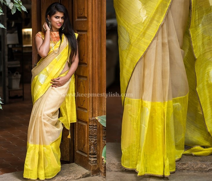 Plain Sarees With Light Border