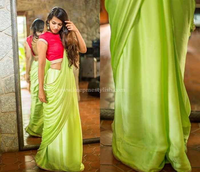 Plain Sarees With thin and No Border