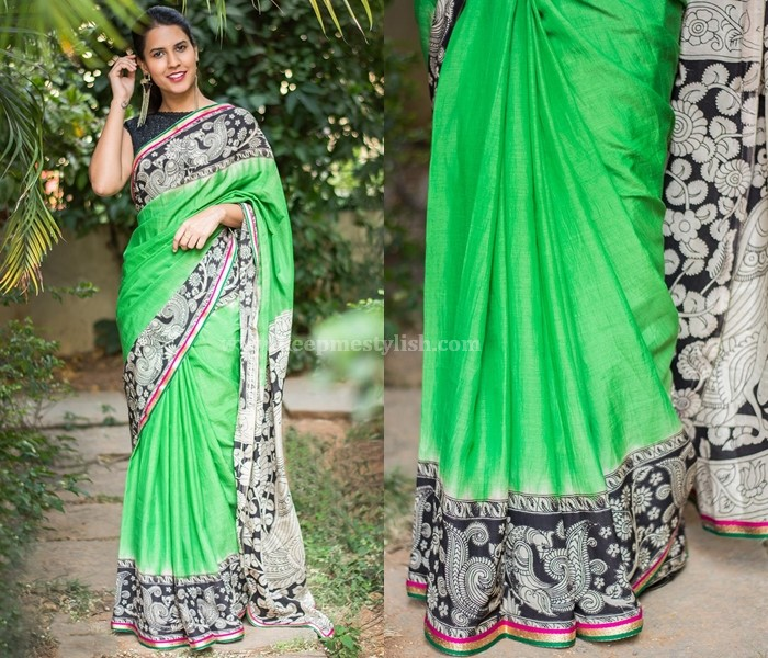 Plain Sarees With Printed Border