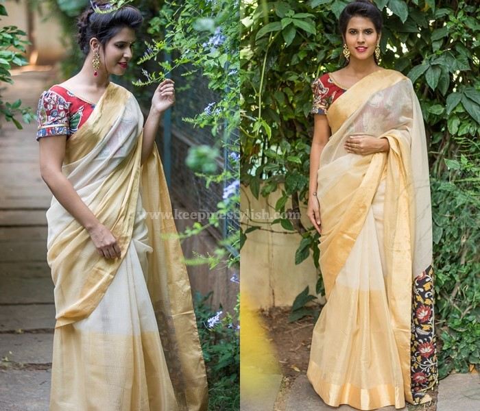 Plain Sarees With Zari Border