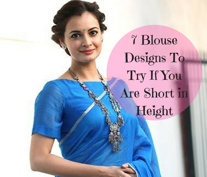 blouse design for short height