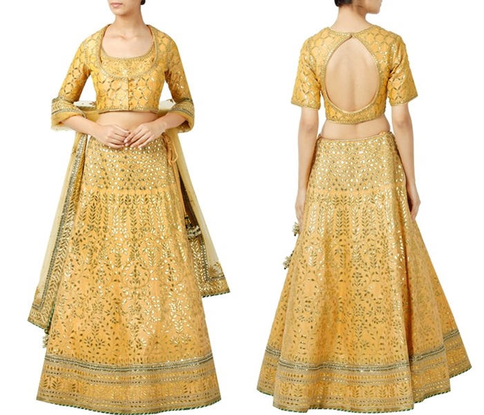 Lehenga Blouse Back Designs