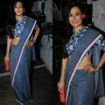 How Would You Make Your Denim Blue Saree Interesting?