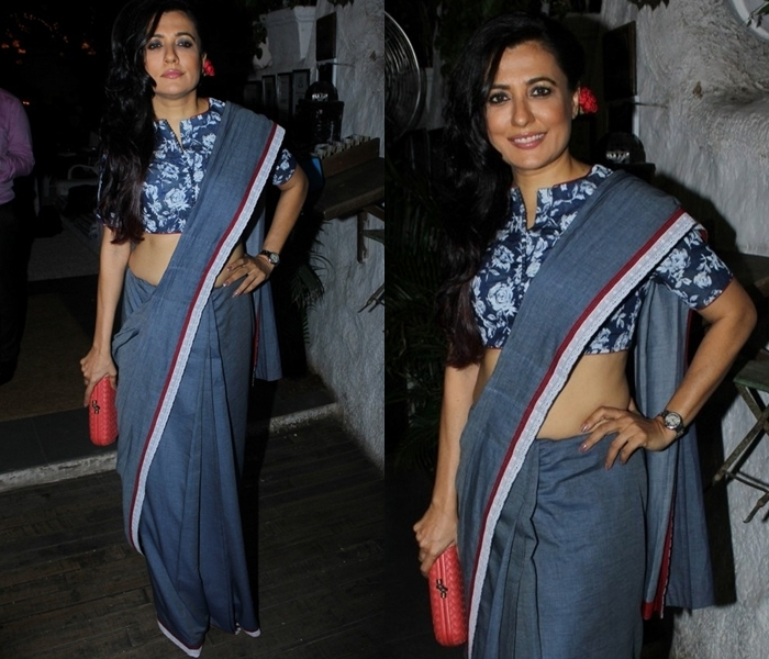 Denim Blue and Indigo Saree Styling Ideas