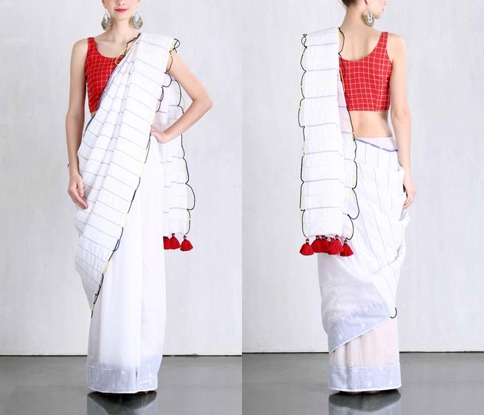Designer Cotton Sarees And Blouses 2017