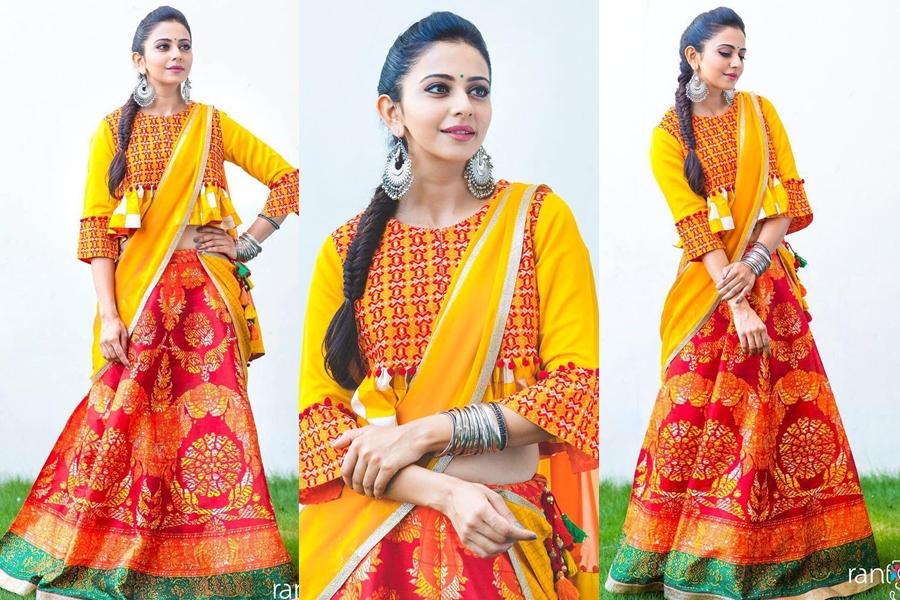modern half saree style