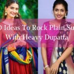 11 Ideas to Rock Plain Suits with Heavy Dupatta