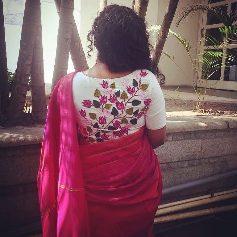 Blouse Back Side Designs For Sarees