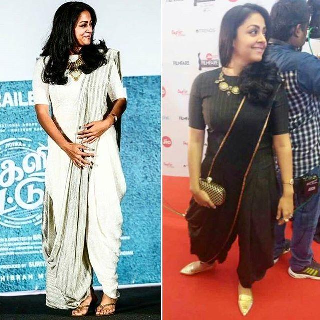 Jyothika Dhoti Saree Style