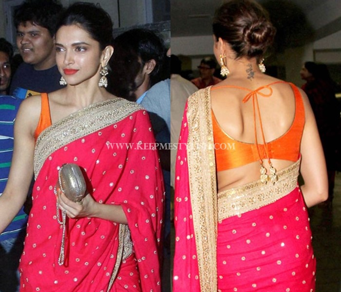 Red Saree Blouse Design Ideas