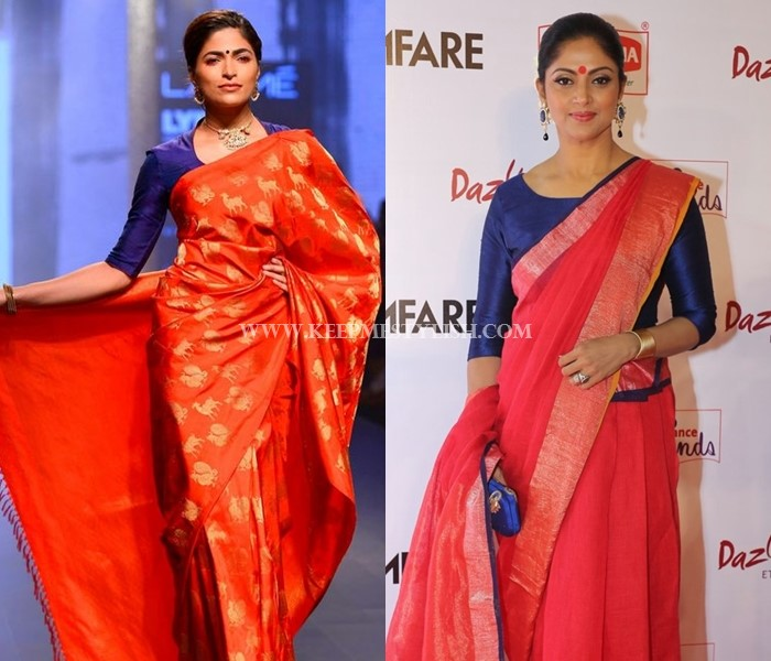 5f6a9e4ba5c37e These 7 Blouse Designs Will Glam-up Your Red Saree Style • Keep Me ...