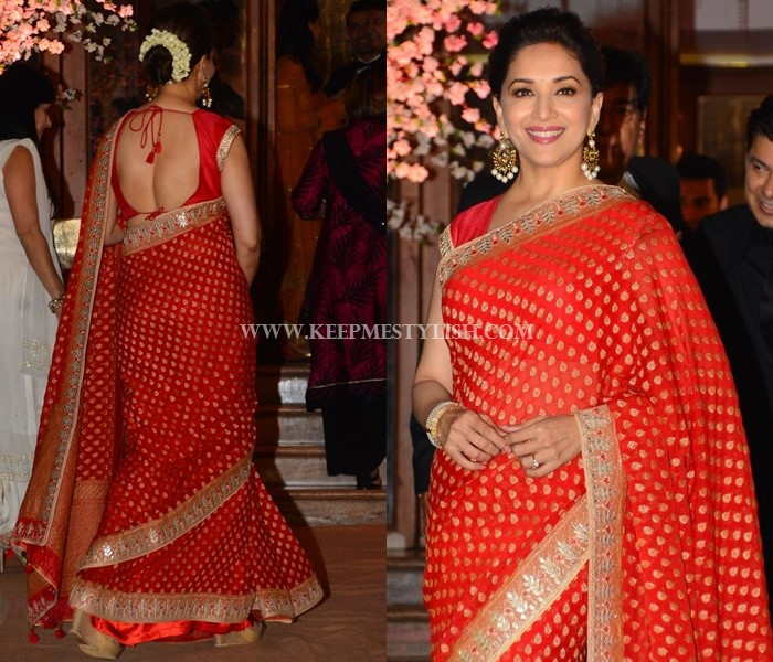 1515a8878bfde6 These 7 Blouse Designs Will Glam-up Your Red Saree Style • Keep Me ...