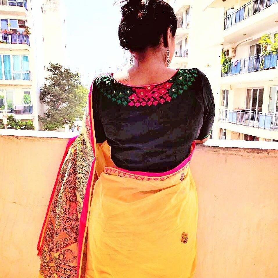 Saree Blouse Back Side Designs