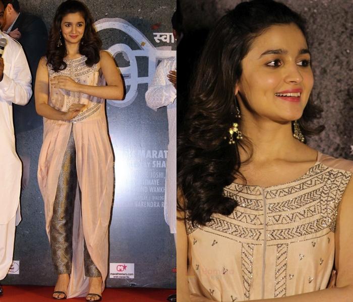 Alia Bhatt in Indo Western Dres