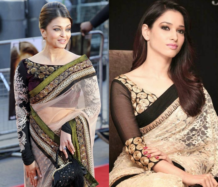 Designer blouse designs for net sarees