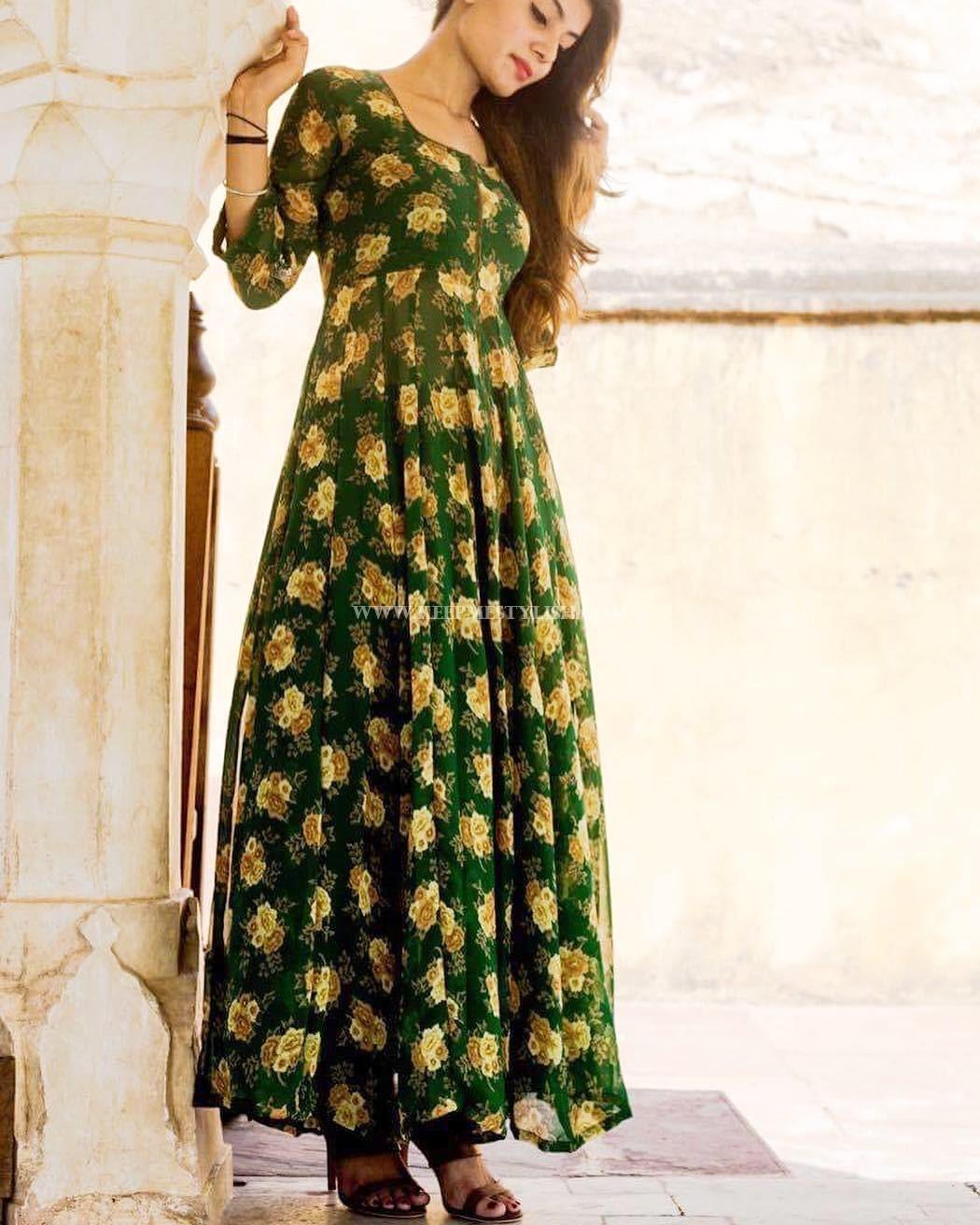 Floral Anarkali Designs