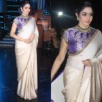 Sridevi Sizzles in Simple Satin Saree