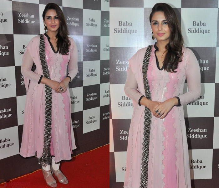 Huma Qureshi in Pink Anarkali