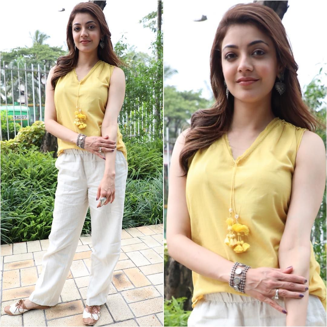 Kajal Aggarwal in Pants and Tops