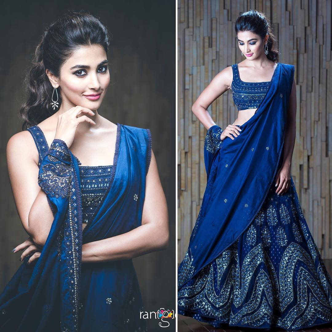 Makeup Ideas for Navy Blue Sarees, Lehengas and Anarkali