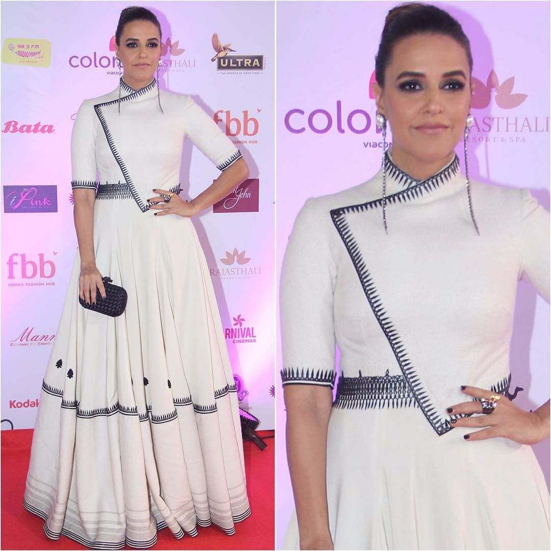 Neha Dupia in White Gown