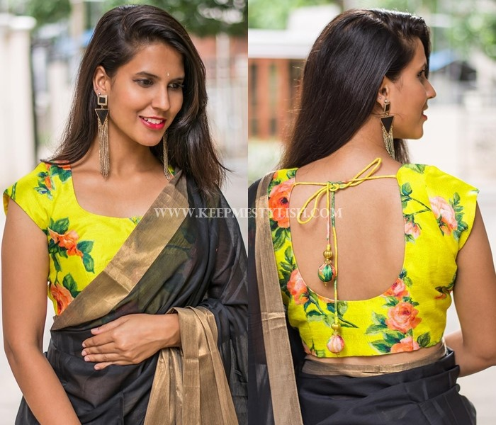 Plain Sarees With Designer Blouse
