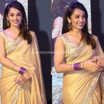 A Pop of Purple in Gold Saree, Would You Try?