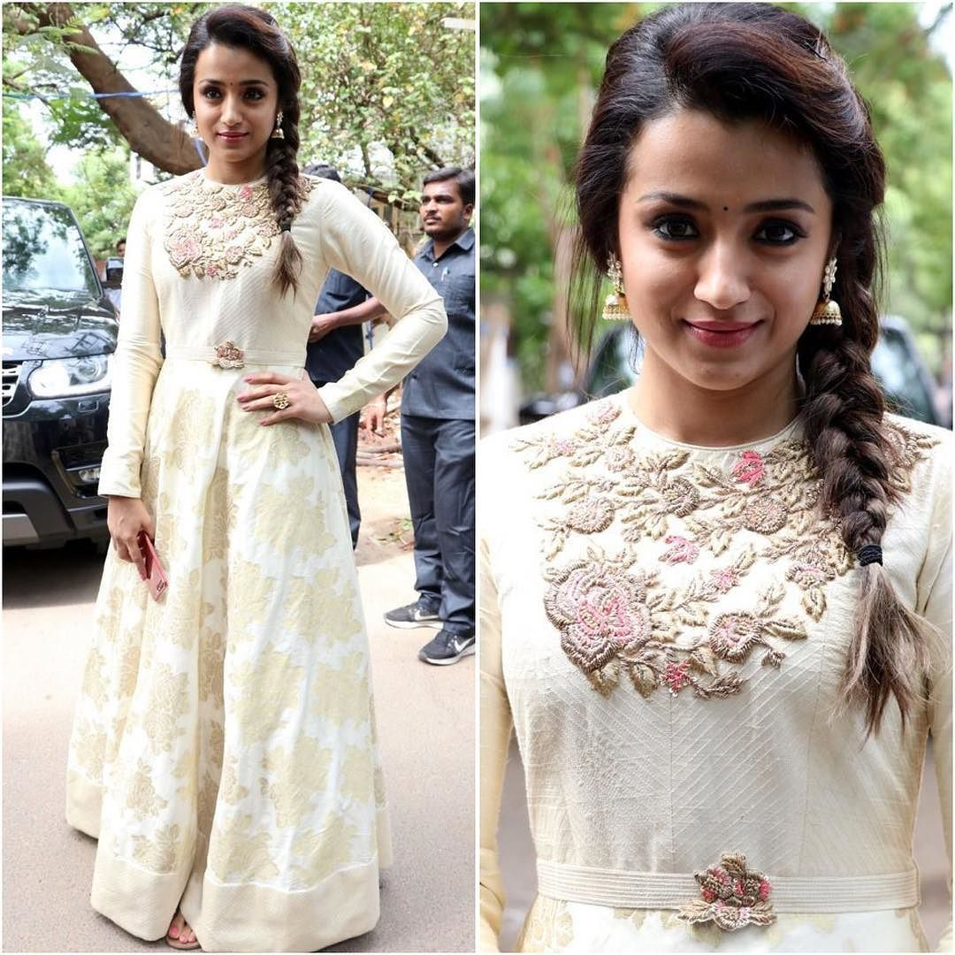 Trisha in Whtie Gown