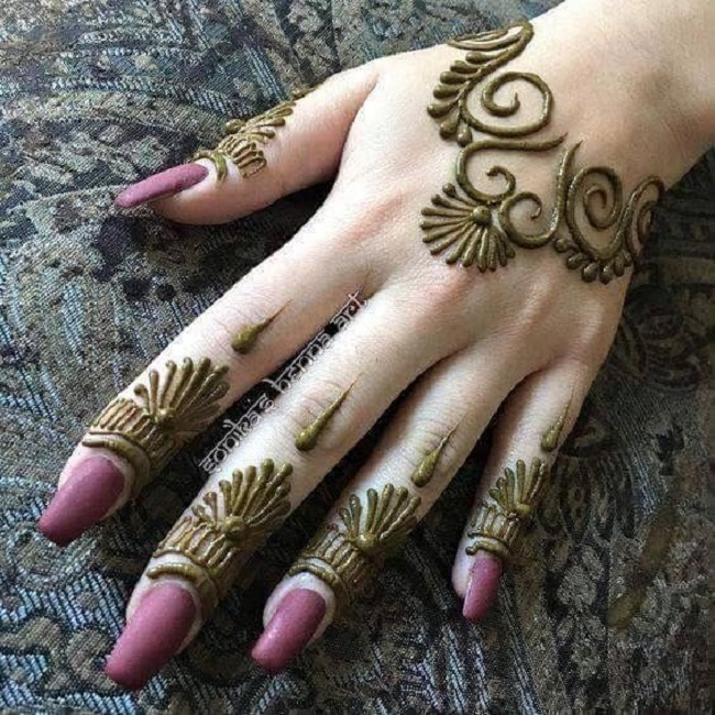30 Easy Arabic Mehendi Designs For Left Hand Keep Me Stylish