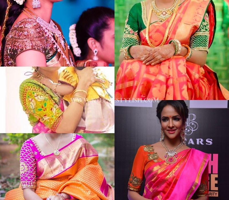 embellished saree jacket patterns