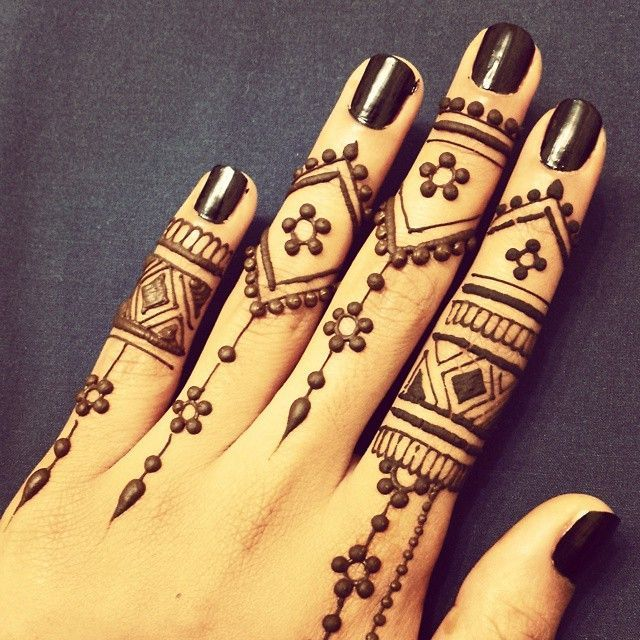Easy Arabic Mehendi Designs for Left Hand