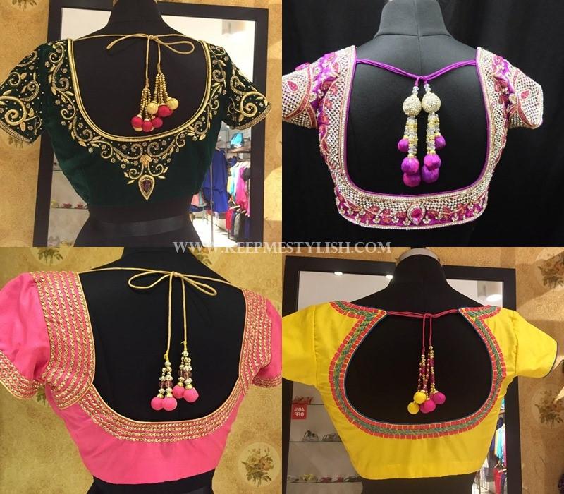 tie back saree blouse models