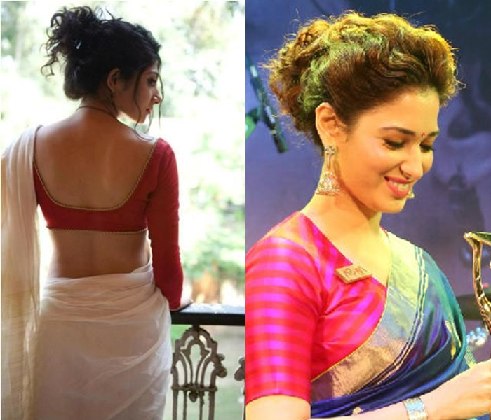 Messy High Buns with Sarees