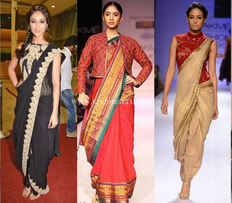 waist length saree jacket patterns