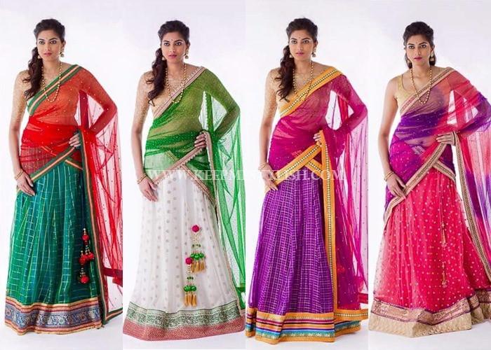 Bhargavi Kunnam Bridal Half Saree Designs