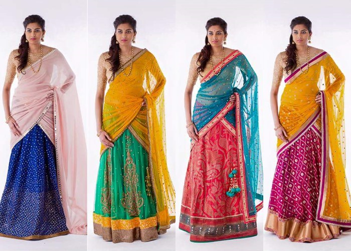 Modern Half Saree Designs