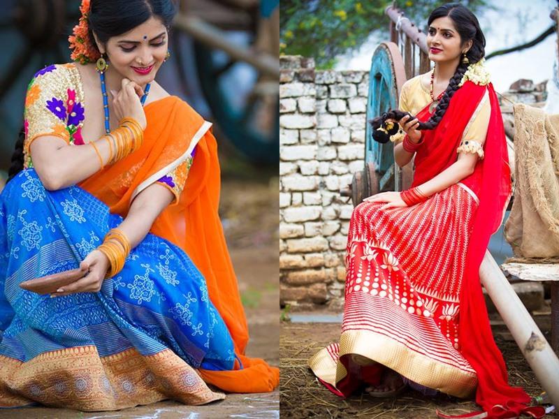 Bhargavi Kunnam Designer Half Saree Designs