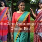 18 Cotton Saree Blouse Designs for a Stylish Look!