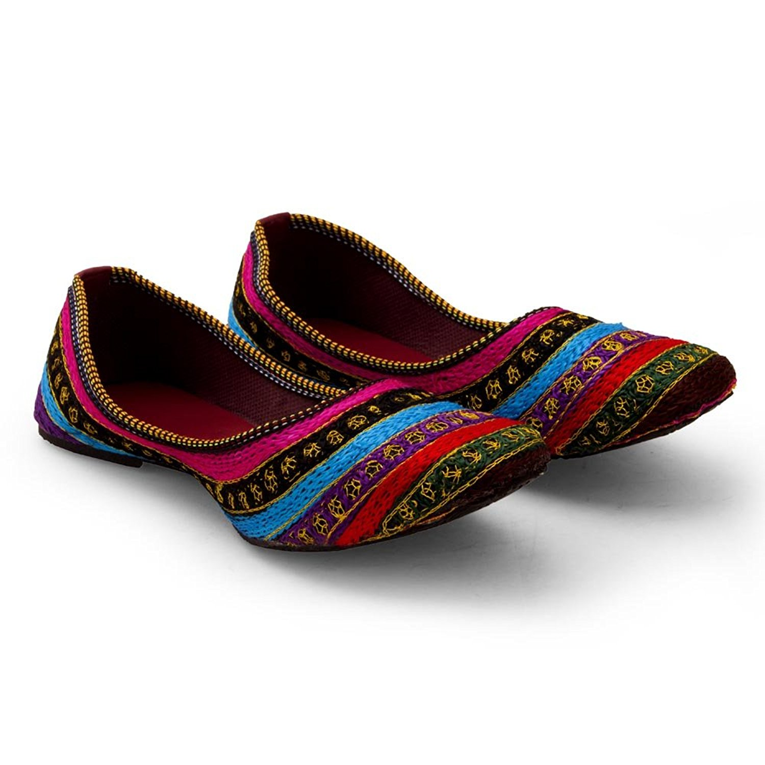 Womens Golden Indian Shoes