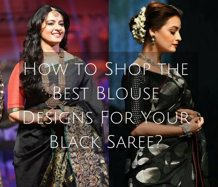 black saree blouse designs and patterns