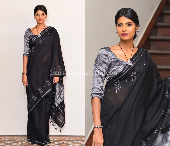 Black Saree Blouse Designs
