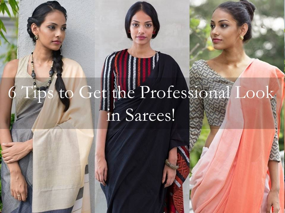 formal saree style tips for office